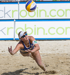 01-08-2014 AUT: FIVB Grandslam Volleybal, Klagenfurt<br /> Marleen Van Iersel of the Netherlands in action<br /> ***NETHERLANDS ONLY***
