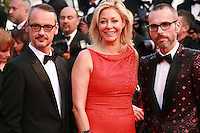 Viktor Horsting, Nadja Swarovski and Rolf Snoeren at the the How to Train Your Dragon 2 gala screening red carpet at the 67th Cannes Film Festival France. Friday 16th May 2014 in Cannes Film Festival, France.