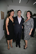 ALISON JACQUES, EDWARD AND AGNES LEE, private view  of new exhibition by Tim Stoner , Alison Jacques Gallery in new premises in Berners St., London, W1 ,Afterwards across the rd. at the Sanderson Hotel. 3 May 2007. DO NOT ARCHIVE-© Copyright Photograph by Dafydd Jones. 248 Clapham Rd. London SW9 0PZ. Tel 0207 820 0771. www.dafjones.com.