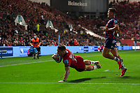 Rugby Union - 2021 / 2022 Gallagher Premiership - Round One - Bristol vs Saracens - Ashton Gate - Friday 17th September 2021<br /> <br /> Saracens' Alex Lewington scores his sides first try.<br /> <br /> COLORSPORT/Ashley Western