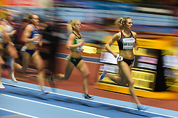 March 2, 2018 - Birmingham, England, United Kingdom - Kate Van Buskirk of Canada at 1500 meter semi final at World indoor Athletics Championship 2018, Birmingham, England on March 2, 2018. (Credit Image: © Ulrik Pedersen/NurPhoto via ZUMA Press)