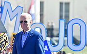 Former Vice-President Joe Biden takes the stage at a Get Out The Vote rally at Kiener Plaza in downtown St.Louis, Missouri, USA.<br /> Tim VIZER/AFP