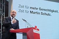 29 JAN 2016, BERLIN/GERMANY:<br /> Martin Schulz, SPD, Kanzlerkandidat, haelt seine Vorstellungsrede, Vorstellung von Schulz als Kanzlerkandidat der SPD zur Bundestagswahl, nach der Nominierung durch den SPD-Parteivorstand, Willy-Brandt-Haus<br /> IMAGE: 20170129-01-036