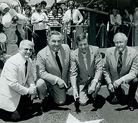 1979 Chuck Fries' first Walk of Fame ceremony