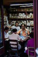 men playing majong in Shanghai China