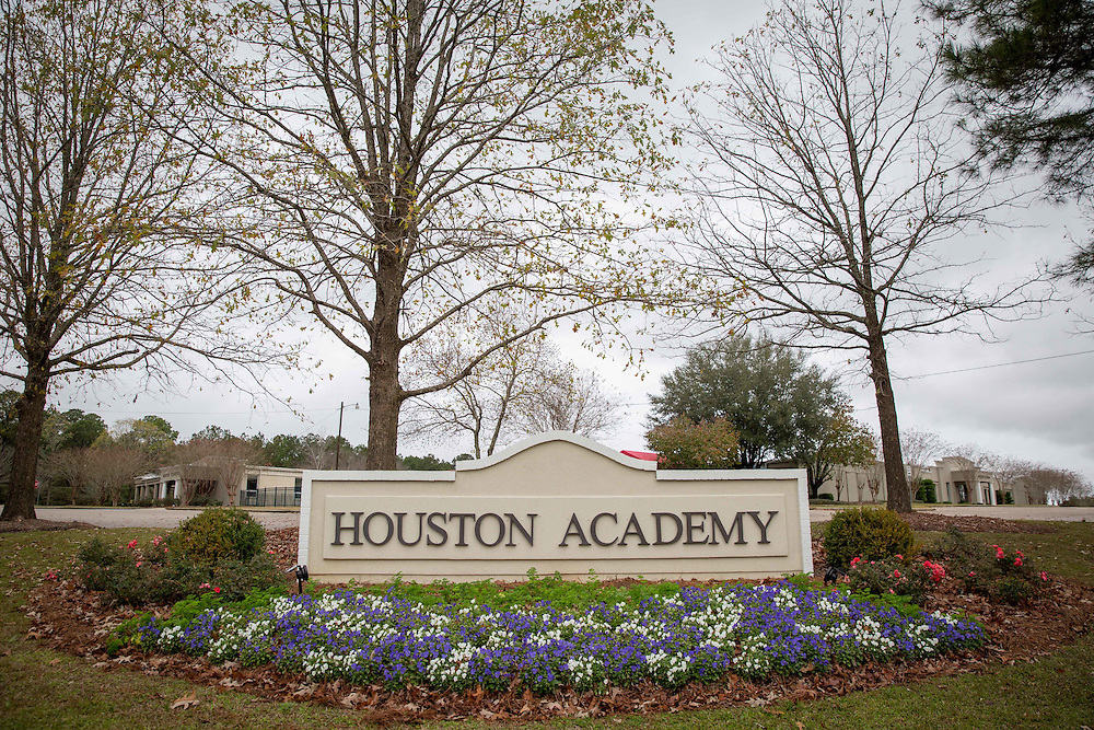 Houston Academy in Dothan, Ala., where presidential candidate Hillary Clinton made an undercover visit in 1972 while working for a civil rights advocate. The school is pictured here on Tuesday, Dec. 22, 2015. Photo by Kevin D. Liles for The New York Times