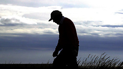 American  Arnold Palmer, during his first round at the Senior British Open Championship, Turnberry.