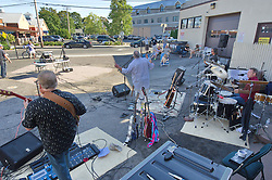 First Public Performance of The Collective Truth. Musical Act from Milford CT. Center Auto Body Parking Lot.