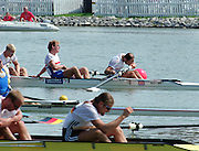 St Catherines, CANADA,  Men's Coxed Four, GBR. M4+ Rick DUNN, Jonathan SEARLE, Jonny SINGFIELD, Graham SMITH and Alistair POTTS (c)e 1999 World Rowing Championships - Martindale Pond, Ontario. 08.1999..[Mandatory Credit; Peter Spurrier/Intersport-images]   ... 1999 FISA. World Rowing Championships, St Catherines, CANADA