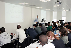Students in a lecture UK