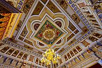 Throne room, Schloss Schwerin (castle), Schwerin, Mecklenburg-West Pomerania, Germany