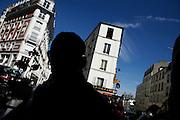 Sunday September 21st 2008. Paris, France..Outside a cafe..Rue Paul Albert - 18th Arrondissement........
