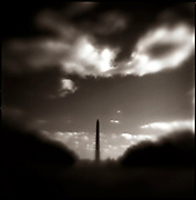 The sun illuminates the Washington Monument. It is a United States Presidential Memorial constructed for George Washington and is among the world's tallest masonry structures.