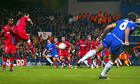 Fotball<br /> Foto: BPI/Digitalsport<br /> NORWAY ONLY<br /> <br /> Paris SG v Chelsea<br /> UEFA Champions League. Stamford Bridge, London. 24/11/2004.<br /> <br /> Chelsea's Frank Lampard came closest in the 0-0 draw with this free-kick.