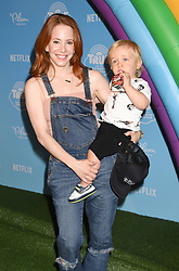 Netflix Original Series 'True And The Rainbow Kingdom' Los Angeles Sneek Peek held at the Pacific Theatres at The Grove. 10 Aug 2017 Pictured: Amy Davidson and Lennox Sawyer Lockwood. Photo credit: Janet Gough / AFF-USA.COM / MEGA TheMegaAgency.com +1 888 505 6342