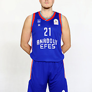 Anadolu Efes's Koralp Turk during the 2020-2021 Garanti BBVA BGL Media Day at the Anadolu Efes Sports Hall on February 02, 2021 in İstanbul, Turkey. Photo by Aykut AKICI/TURKPIX