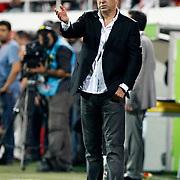 Besiktas's head coach Samet Aybaba during their Turkish Superleague soccer derby match Besiktas between Galatasaray at the Inonu Stadium at Dolmabahce in Istanbul Turkey on Thursday, 26 August 2012. Photo by TURKPIX