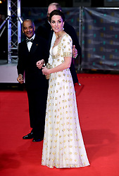 The Duke and Duchess of Cambridge attending the 73rd British Academy Film Awards held at the Royal Albert Hall, London.