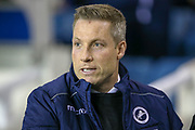 Millwall Manager Neil Harris  during the EFL Sky Bet Championship match between Millwall and Birmingham City at The Den, London, England on 28 November 2018.