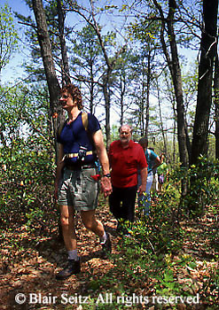 Outdoor recreation, Male Hikers, PA Wilderness, Cumberland Co., PA