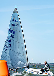 Roy Heiner in action by the Open Dutch Sailing Championships on September 18, 2020 in Medemblik, Netherlands