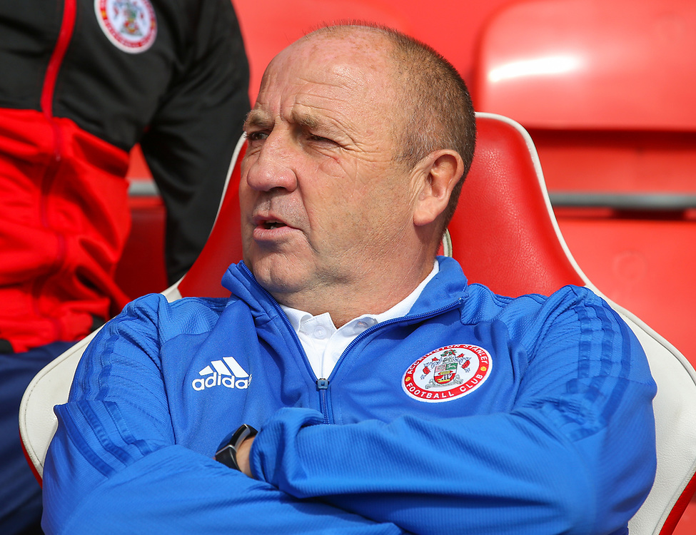 Accrington Stanley manager John Coleman takes his seat for the match<br /> <br /> Photographer Alex Dodd/CameraSport<br /> <br /> The EFL Sky Bet League One - Fleetwood Town v Accrington Stanley - Saturday 15th September 2018  - Highbury Stadium - Fleetwood<br /> <br /> World Copyright © 2018 CameraSport. All rights reserved. 43 Linden Ave. Countesthorpe. Leicester. England. LE8 5PG - Tel: +44 (0) 116 277 4147 - admin@camerasport.com - www.camerasport.com
