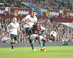 Tottenham Hotspurs' Erik Lamela's shot goes wide  - Photo mandatory by-line: Nigel Pitts-Drake/JMP - Tel: Mobile: 07966 386802 24/09/2013 - SPORT - FOOTBALL -  Villa Park - Birmingham - Aston Villa v Tottenham Hotspur - Round 3 - Capital One Cup