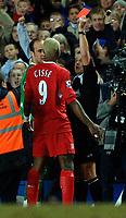 Photo: Daniel Hambury.<br />Chelsea v Liverpool. The Barclays Premiership. 05/02/2006.<br />Liverpool's Jose Reina is sent off.