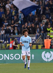 May 20, 2018 - Rome, Italy - Felipe Anderson celebrates after scoring goal 2-1 during the Italian Serie A football match between S.S. Lazio and F.C. Inter at the Olympic Stadium in Rome, on may 20, 2018. (Credit Image: © Silvia Lore/NurPhoto via ZUMA Press)