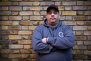 Former gang man Darryl Laycock has been shot 20 times, stabbed 7 times and has spent over 12 years in prison. Now a reformed man he works on knife prevention with youth projects across the UK. Photographed in London, United Kingdom on the 14th November 2018.