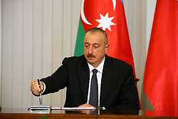 June 27, 2017 - Warsaw, Poland - President of Azerbaijan Ilham Aliyev during visit to Poland. President of Azerbaijan Ilham Aliyev and President Andrzej Duda gave common press statement after bilateral talks in Warsaw. Azerbaijani President Aliyev took part in ceremonial wreath laying at the Memorial of the Unknown Soldier. (Credit Image: © Jakob Ratz/Pacific Press via ZUMA Wire)