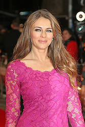 © Licensed to London News Pictures. 07/10/2014, UK. Elizabeth Hurley, The Rewrite - European film premiere, Odeon Kensington, London UK, 07 October 2014. Photo credit : Richard Goldschmidt/Piqtured/LNP