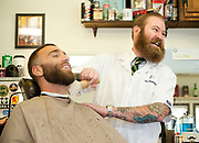 PRICE CHAMBERS / NEWS&GUIDE<br /> Whiskey Barber's Dave Johnson will travel to Las Vegas soon to compete in a beard and mustache competition.