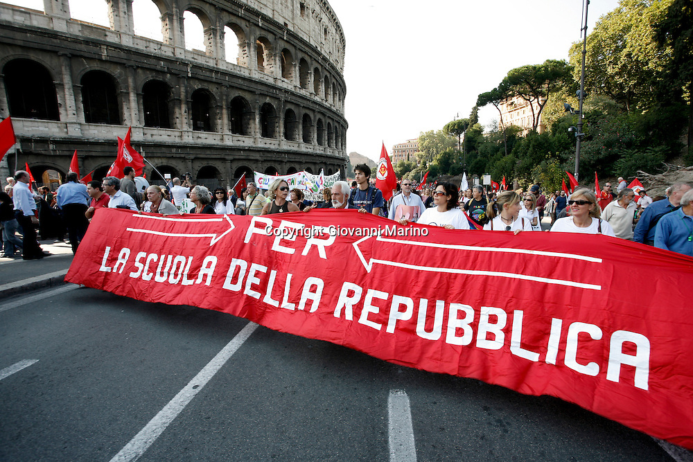 Rome October 11 2008- Protest against italian government