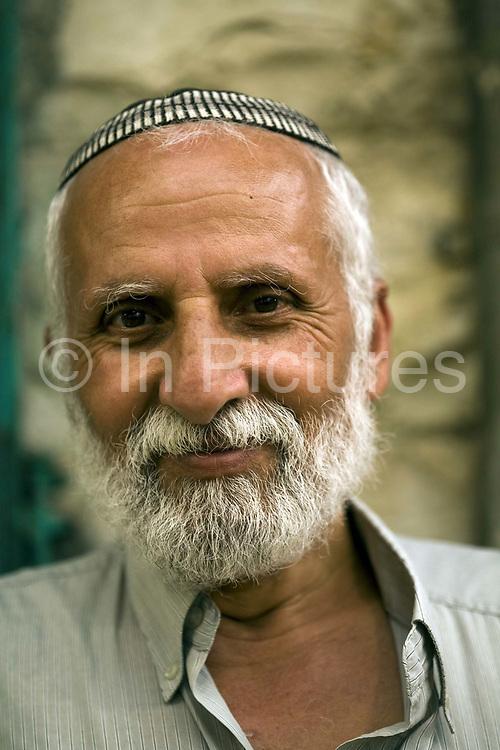 A trader on a stall at the Mahane Yahuda Market, Jerusalem, Israel