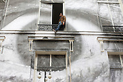 Paris, France. 18 Novembre 2011.French photographer JR at Galerie Emmanuel Perrotin