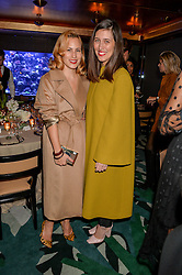 Left to right, CHARLOTTE DELLAL and EMILIA WICKSTEAD at a dinner hosted by Creme de la Mer to celebrate the launch of Genaissance de la Mer The Serum Essence held at Sexy Fish, Berkeley Square, London on 21st January 2016.