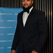 Joe Joyce performs at Awareness gala hosted by the Health Committee with live music and poetry performances at City Hall at The Queen's Walk, London, UK. 18 March 2019.