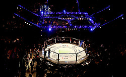 A general view of a UFC Octagon at The O2 Arena, London. PRESS ASSOCIATION Photo. Picture date: Saturday March 17, 2018. See PA Story UFC London. Photo credit should read: Simon Cooper/PA Wire