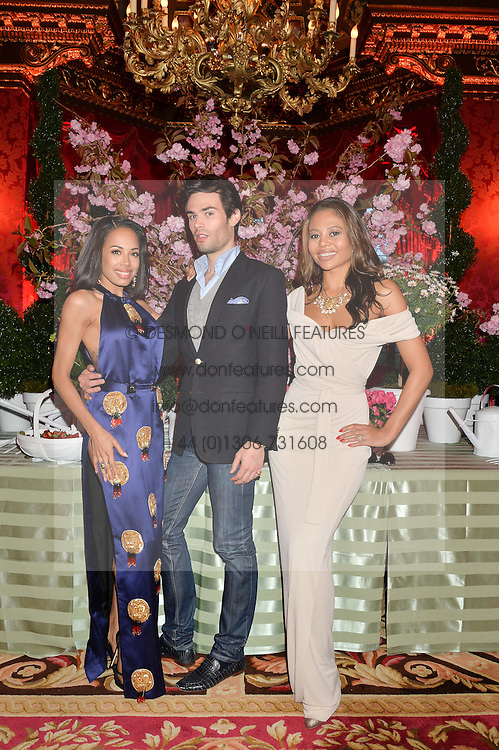 Left to right, JADE EWEN, MARK-FRANCIS VANDELLI and VISCOUNTESS WEYMOUTH at the Tatler Best of British party in association with Jaegar held at The Ritz, Piccadilly, London on 28th April 2015.