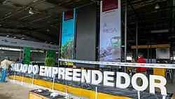 """O Salão do Empreendedor que está ocorrendo na Expointer 2018, dará nesta edição, destaque para as cadeias produtivas da Soja, Pecuária do Corte e Vinicultura, com a perspectiva """"Do Campo à Mesa"""". O espaço está sendo montado no Pavilhão Internacional do Parque de Exposições Assis Brasil, em Esteio/RS, e ficará aberto ao público de 25 de Agosto a 02 de Setembro. Foto: Marcos Nagelstein/ Agência Preview"""