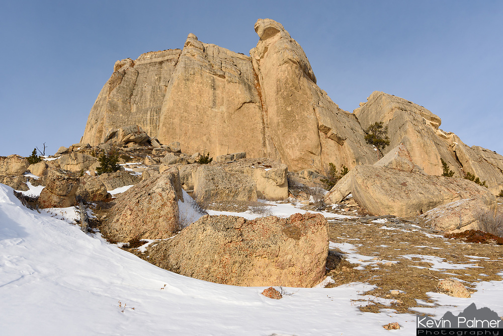Massive boulders lay at the base of Steamboat Point in the Bighorn Mountains. Some of these are the size of houses.