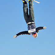 Matthew Depeters performs aerial acrobatics during the final event at the 2009 Sprint US Freestyle Championships held at the Utah Olympic Park in Park City on March 8, 2009. Depeters earned the bronze medal after completing two solid jumps during the event.