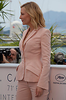Cate Blanchett, Jury President of the Festival de Cannes 2018 at the Jury photo call at the 71st Cannes Film Festival Tuesday 8th May 2018, Cannes, France. Photo credit: Doreen Kennedy