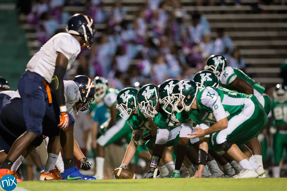 The A.L. Brown Wonders faced off against the Vance Cougars at A.L. Brown High School on September 30, 2016 in Kannapolis, North Carolina.  The Wonders defeated the Cougars 24-21.  (Brian Westerholt/Special to the Tribune)
