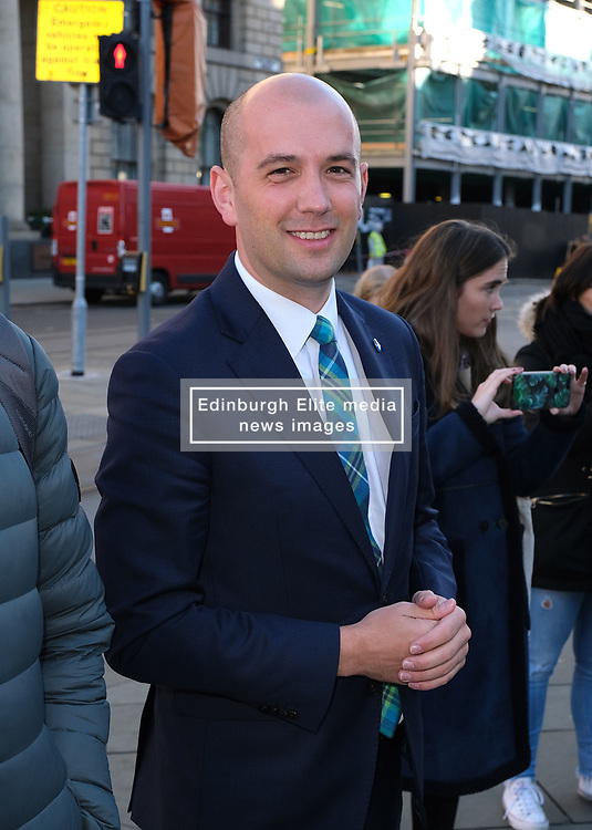 Minister for Europe, Migration and International Development Ben Macpherson launched the annual St Andrew's Day campaign in Edinburgh today.<br /> <br /> The #MakeSomeonesDay campaign is a rallying call to encourage the public to spread a little kindness this St Andrew's Day (30 November).<br /> <br /> Pictured: Ben Macpherson MSP<br /> <br /> Alex Todd   Edinburgh Elite media