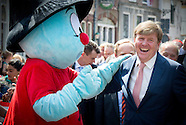 KING WILLEM ALEXANDERVISITS 750 YEARS OLD OUDEWATER