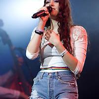 Eliza Doolittle performing live at Summer Sundae 2010, De Montfort Hall, Leicester, Leicestershire, 2010-08-13