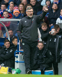 Hearts manager Craig Levein during the Ladbrokes Scottish Premiership match at Ibrox Stadium, Glasgow.