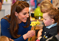The Duke and Duchess of Cambridge visit St Joseph's SureStart in Ballymena, County Antrim, UK, on the 28th February 2019. 27 Feb 2019 Pictured: The Duke and Duchess of Cambridge visit St Joseph's SureStart in Ballymena, County Antrim, UK, on the 28th February 2019. Photo credit: James Whatling / MEGA TheMegaAgency.com +1 888 505 6342